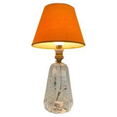 Archimede Seguso Midcentury Bullicante Murano Glass Table Lamp, Italy 1950s