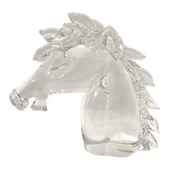 Archimede Seguso Murano Art Glass Horse