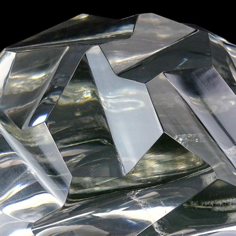 Archimede Seguso Murano Crystal Clear Italian Art Glass Turtle Sculpture For Sale 1