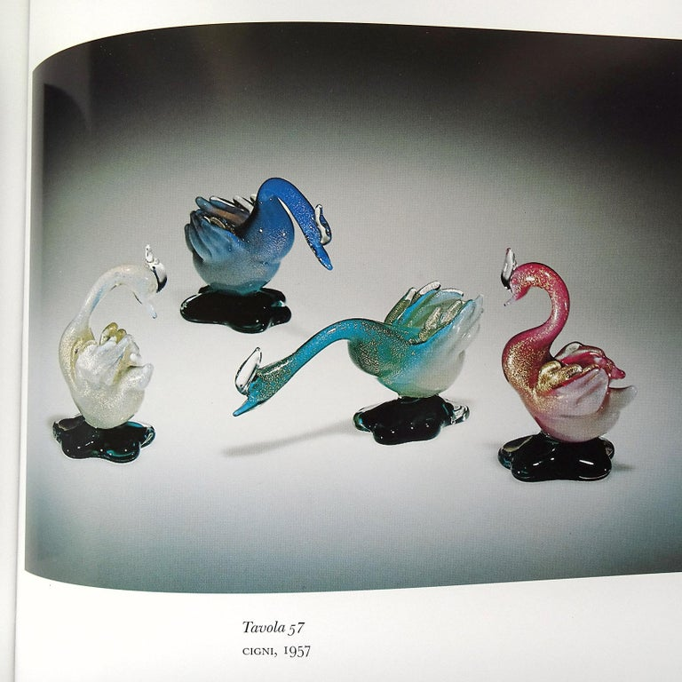 Archimede Seguso Murano Pink White Gold Italian Art Glass Swan Bird Sculpture For Sale 3
