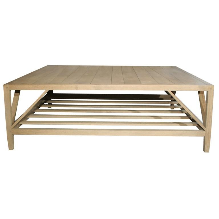 Stained Architect Coffee Table For Sale