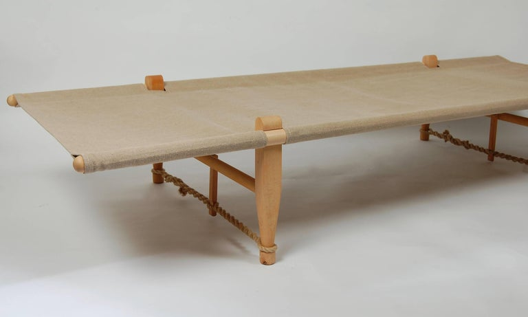 Architect Ole Gjerlov Knudsen Safarn Daybed or Cot, Danish Design 1962 In Good Condition For Sale In San Francisco, CA