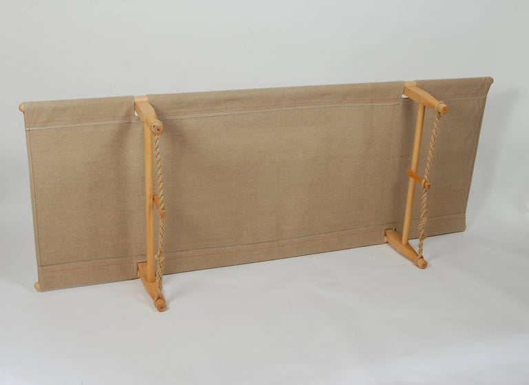 Mid-20th Century Architect Ole Gjerlov Knudsen Safarn Daybed or Cot, Danish Design 1962 For Sale