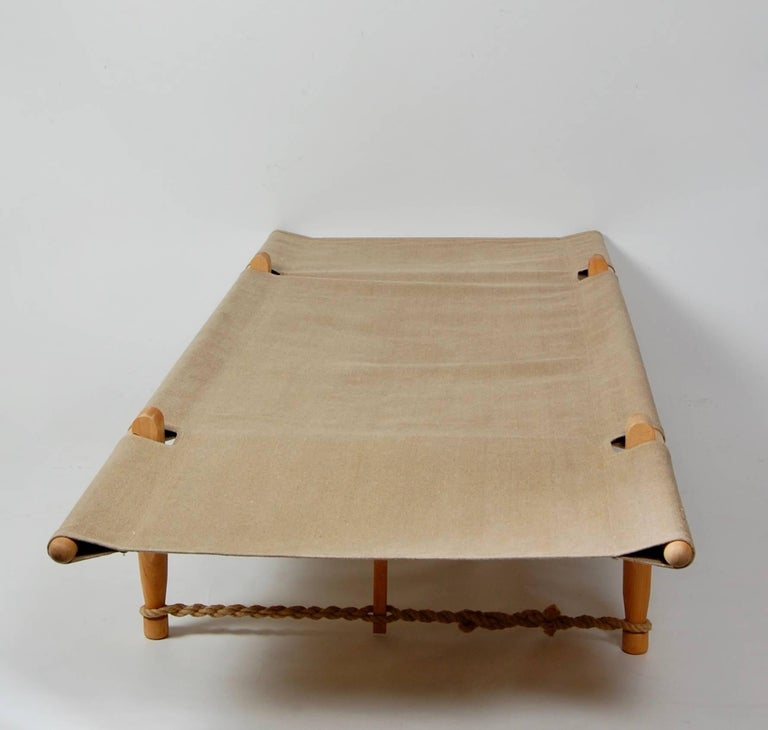 Architect Ole Gjerlov Knudsen Safarn Daybed or Cot, Danish Design 1962 For Sale 1