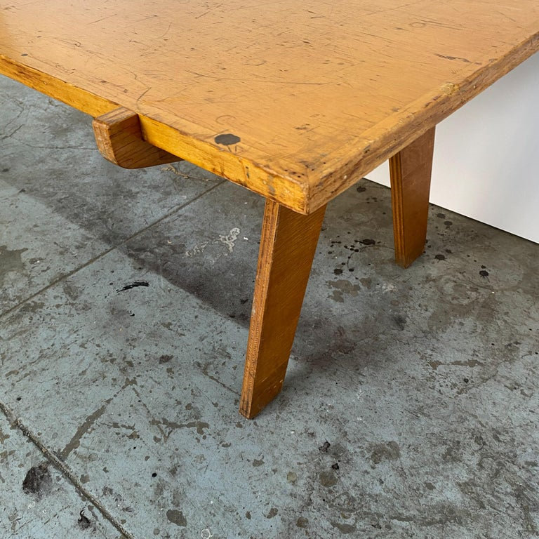 Architectonic Cut Plywood Midcentury Cocktail Table For Sale 3