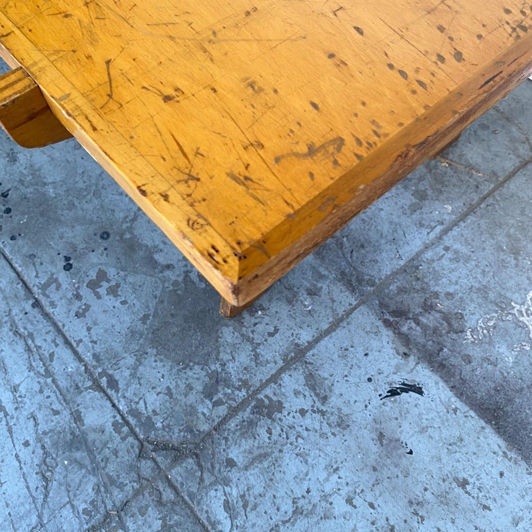 Architectonic Cut Plywood Midcentury Cocktail Table For Sale 4