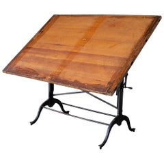 Architect's Cast Iron Drafting Table