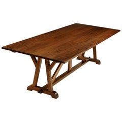 """Architects Table"" Classic Arts & Crafts Dining Table in Walnut"