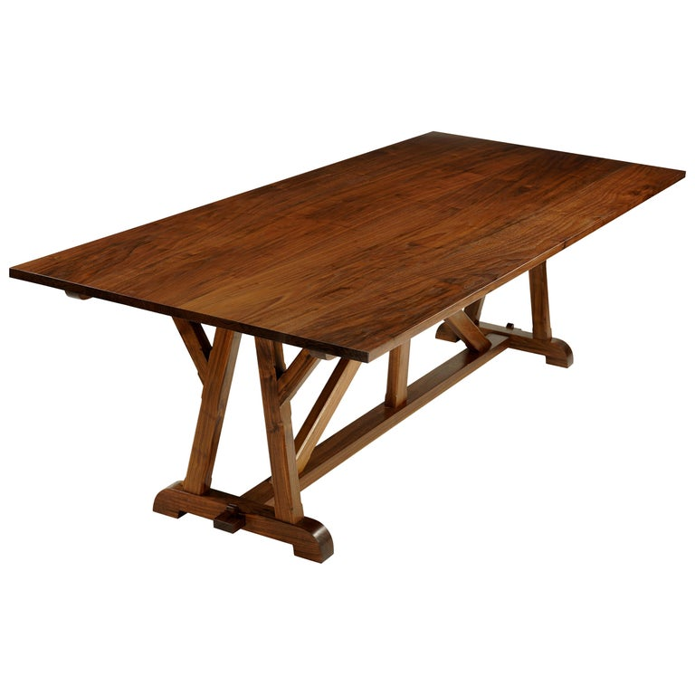 """""""Architects Table"""" Classic Arts & Crafts Dining Table in Walnut For Sale"""