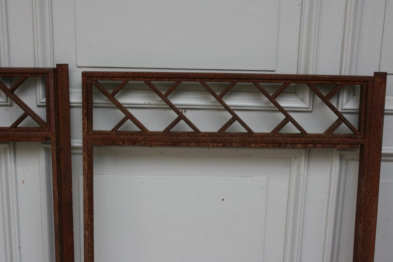 Architectural Iron Art Deco Windows, Set of 4 For Sale 5
