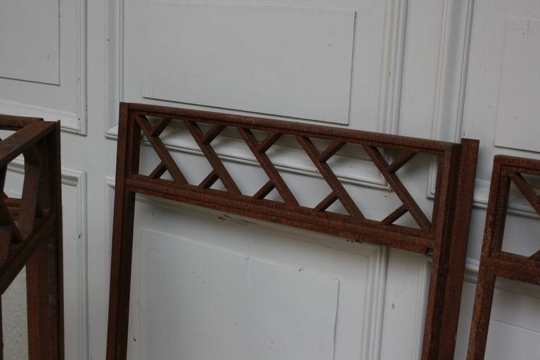 Architectural Iron Art Deco Windows, Set of 4 For Sale 6