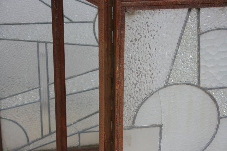 Architectural Iron Art Deco Windows, Set of 4 For Sale 13