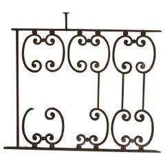 Architectual Wrought Iron Balcony Railing, France
