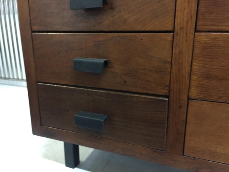 Architectural 1920s French Oak Cabinet For Sale 5