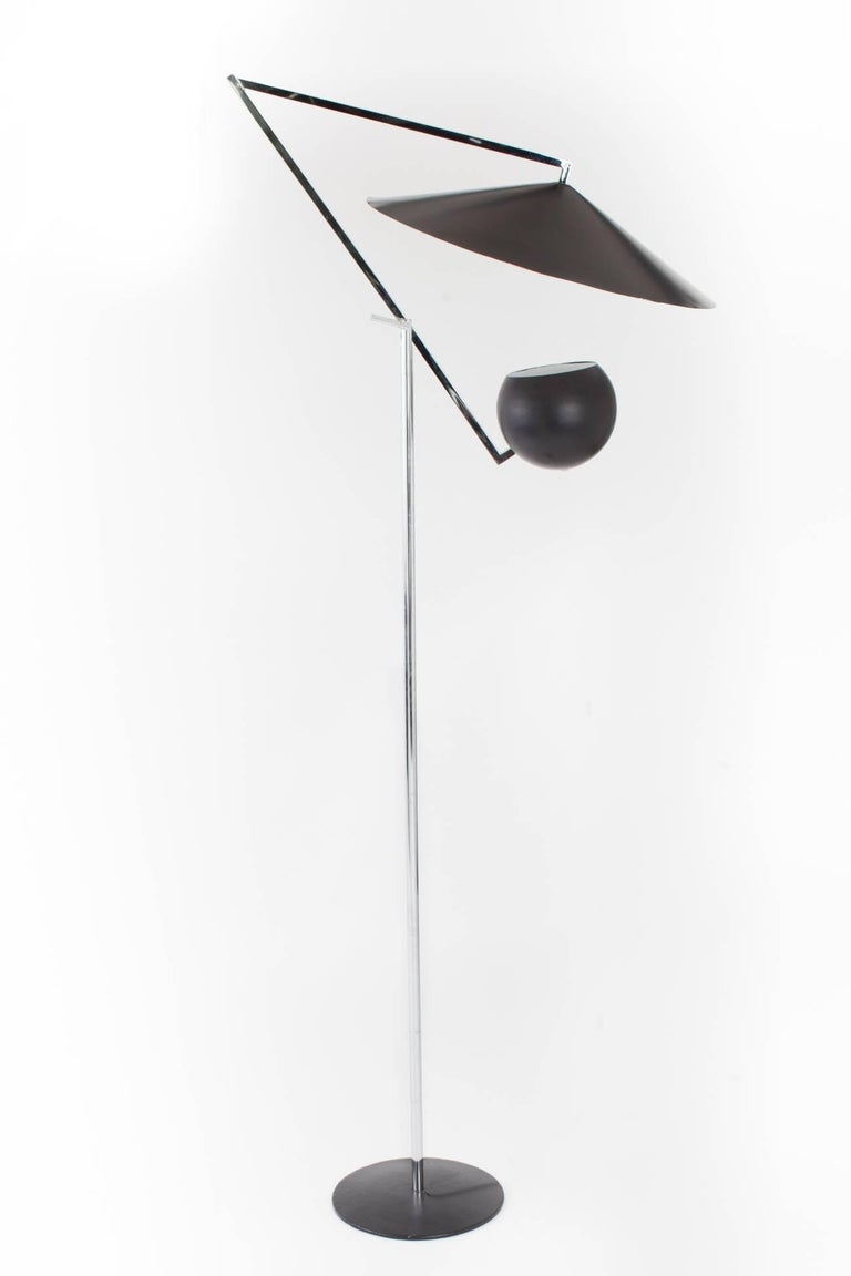 Mid-Century Modern Architectural 1960s Articulated Floor Lamp by Robert Sonneman For Sale