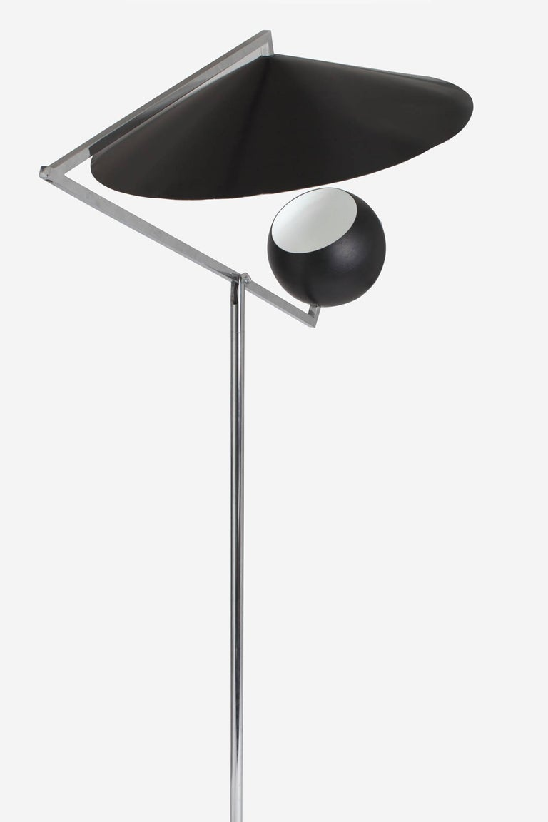 American Architectural 1960s Articulated Floor Lamp by Robert Sonneman For Sale