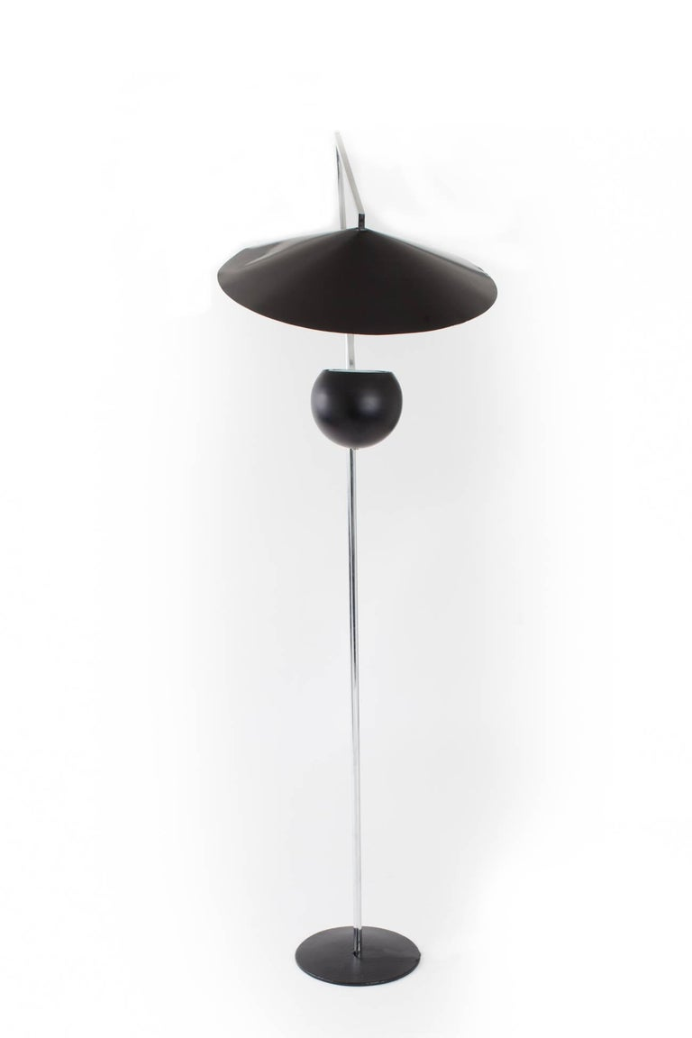 Mid-20th Century Architectural 1960s Articulated Floor Lamp by Robert Sonneman For Sale