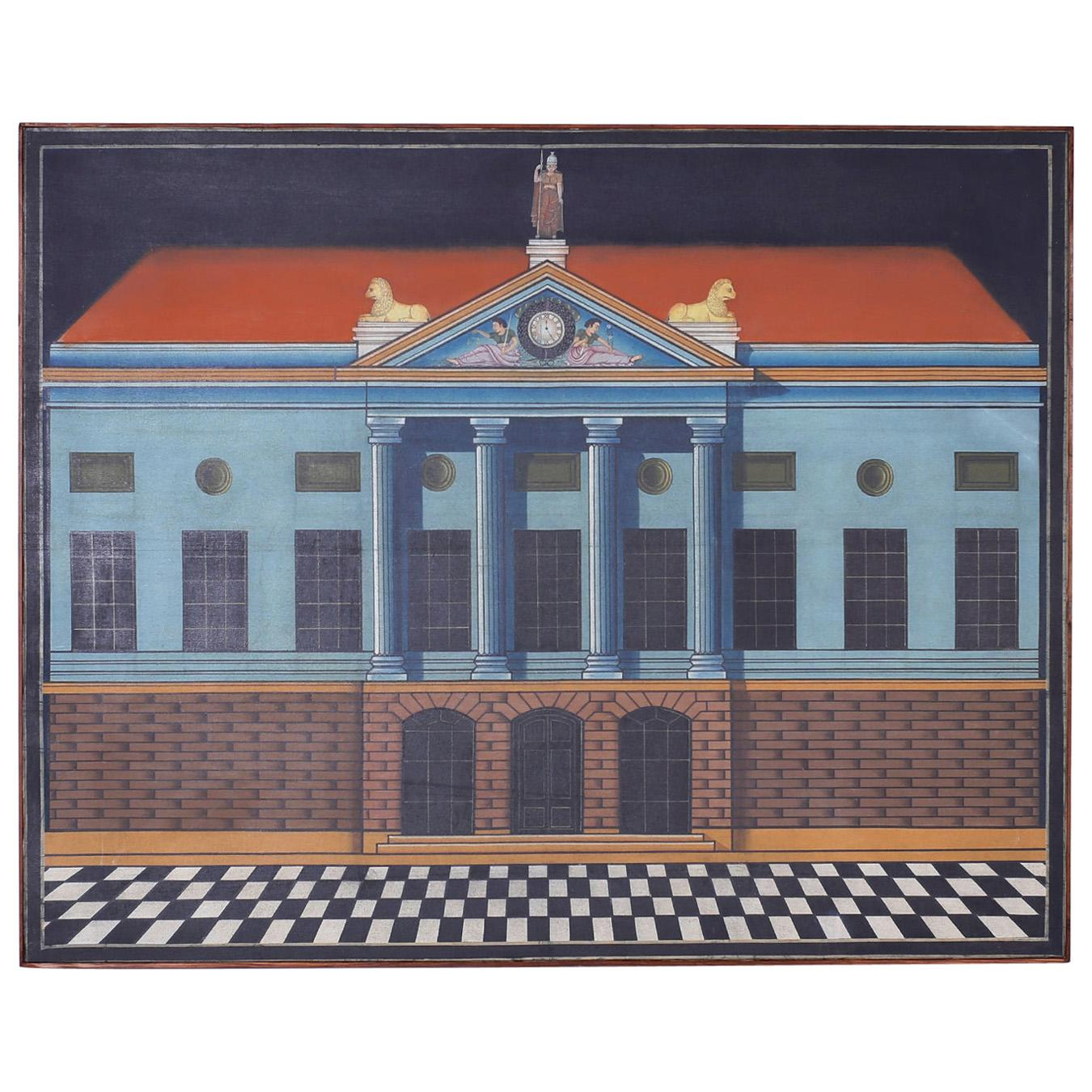Architectural Acrylic Painting on Canvas