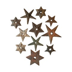 Architectural Antique Cast Iron Star Shaped Building Support Collection '11'