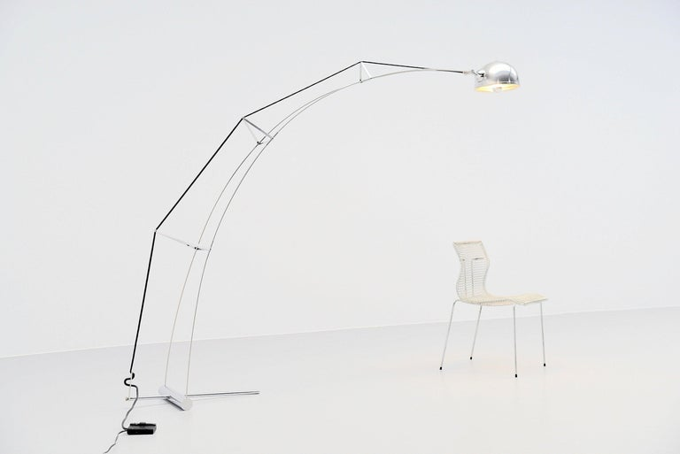 Architectural arc floor lamp Italy 1970 For Sale 1