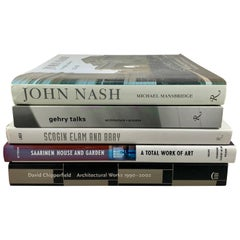 Architectural Book Collection, Nash, Gehry, Saarinen, Chipperfield, Scogin, S/5