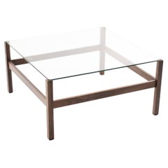 Architectural Brazilian Rosewood Coffee Table