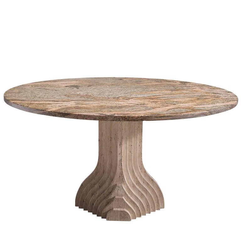 Architectural Centre Table in Travertine