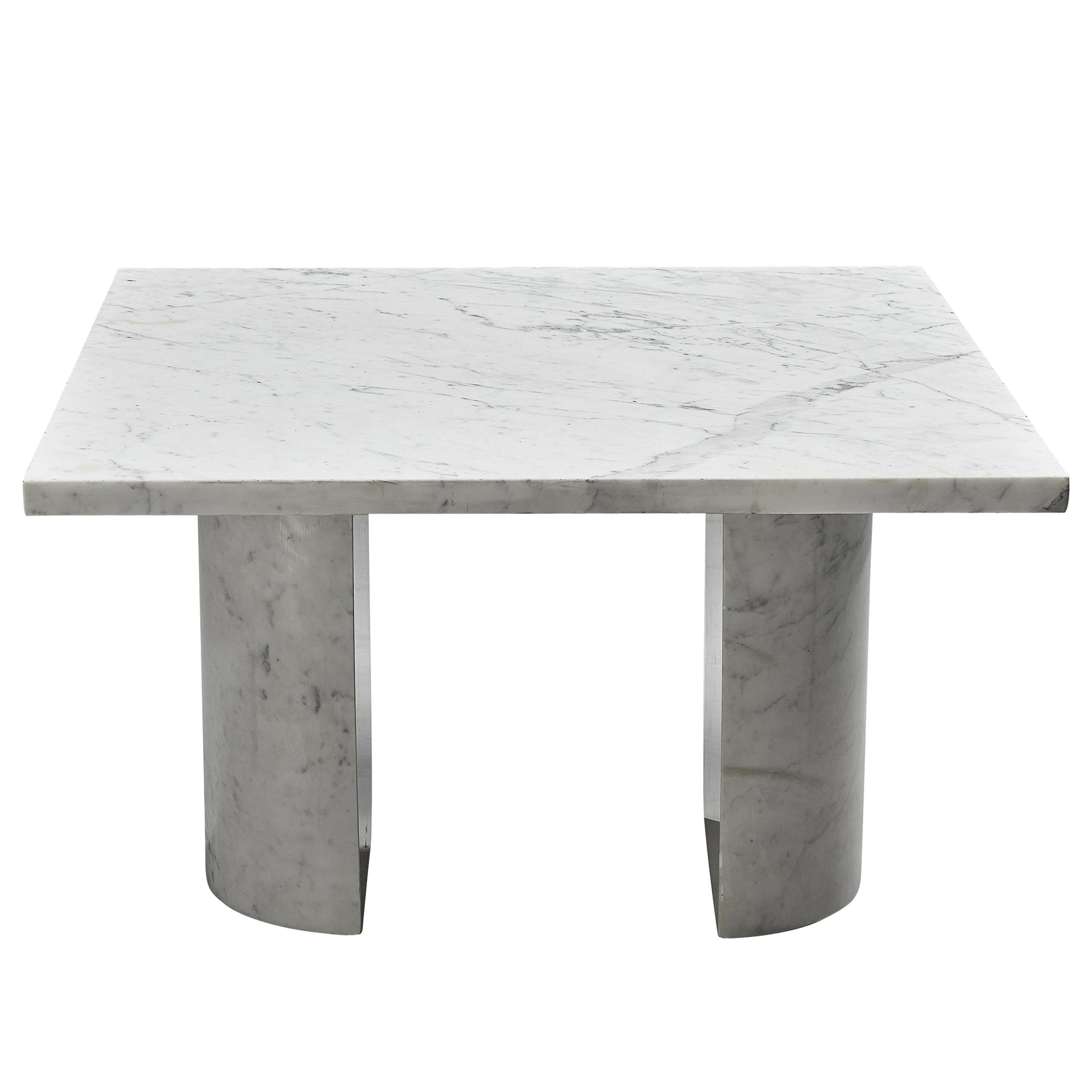 Architectural Coffee Table in Carrara Marble