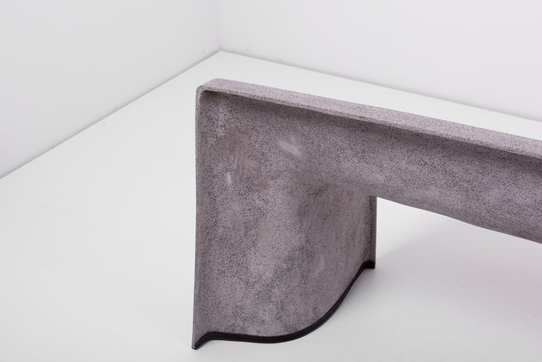 Architectural Concrete Bench by Martin Kleppe, Germany, circa 2011 For Sale 7