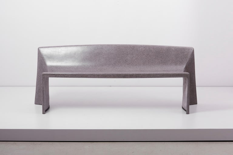 Handmade bench made of concrete by german artist Martin Kleppe.