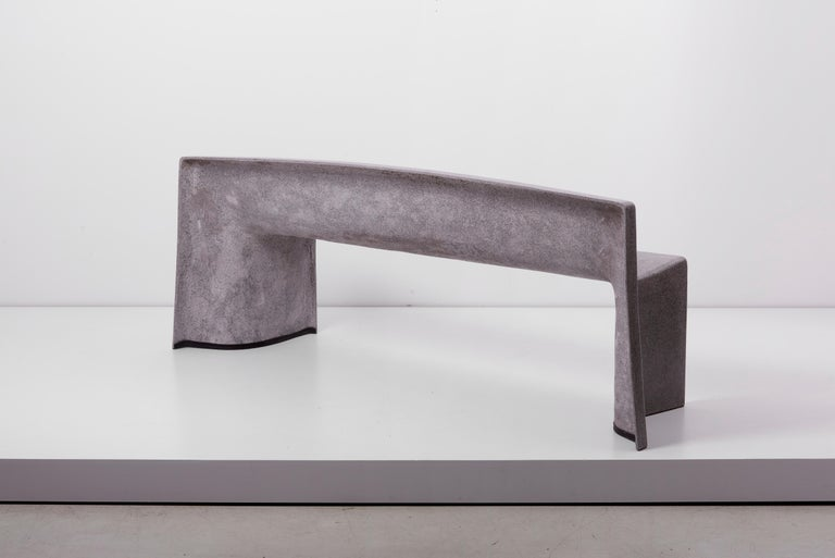 Contemporary Architectural Concrete Bench by Martin Kleppe, Germany, circa 2011 For Sale