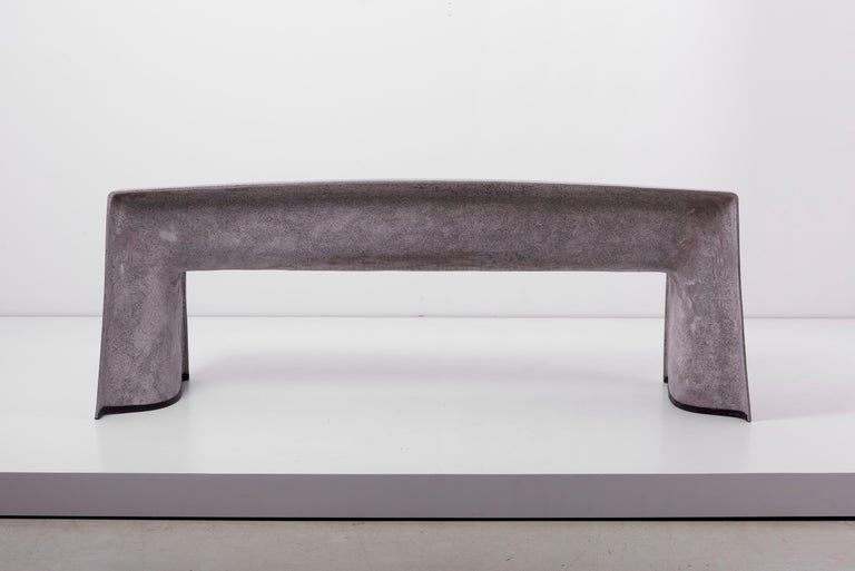 Architectural Concrete Bench by Martin Kleppe, Germany, circa 2011 For Sale 1