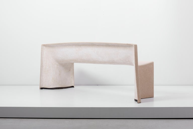 Architectural Concrete Bench by Martin Kleppe, Germany, circa 2011 For Sale 4