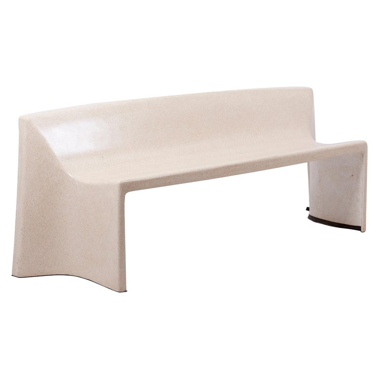 Architectural Concrete Bench by Martin Kleppe, Germany, circa 2011 For Sale