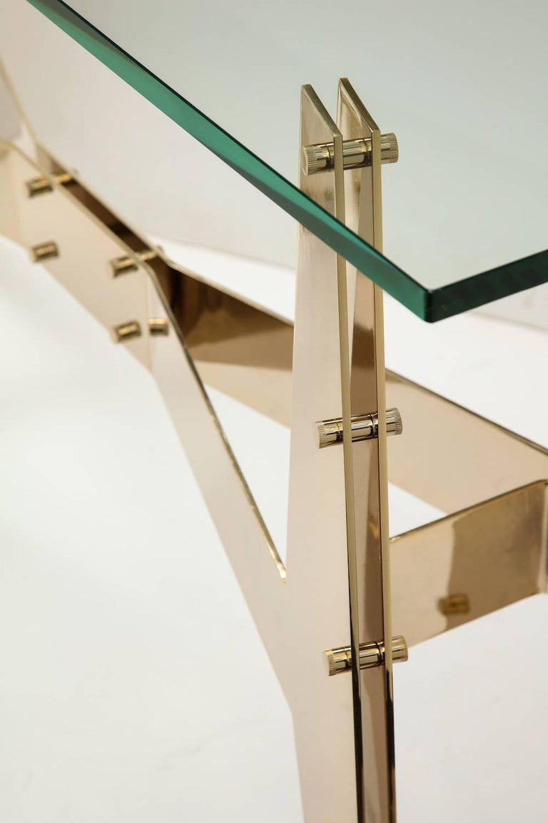 Architectural Console Table In Excellent Condition For Sale In New York, NY
