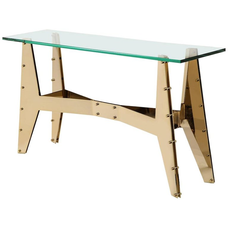 Architectural Console Table For Sale