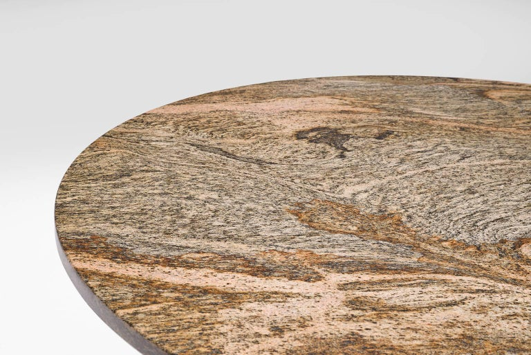 Architectural Dining Table in Travertine For Sale 1