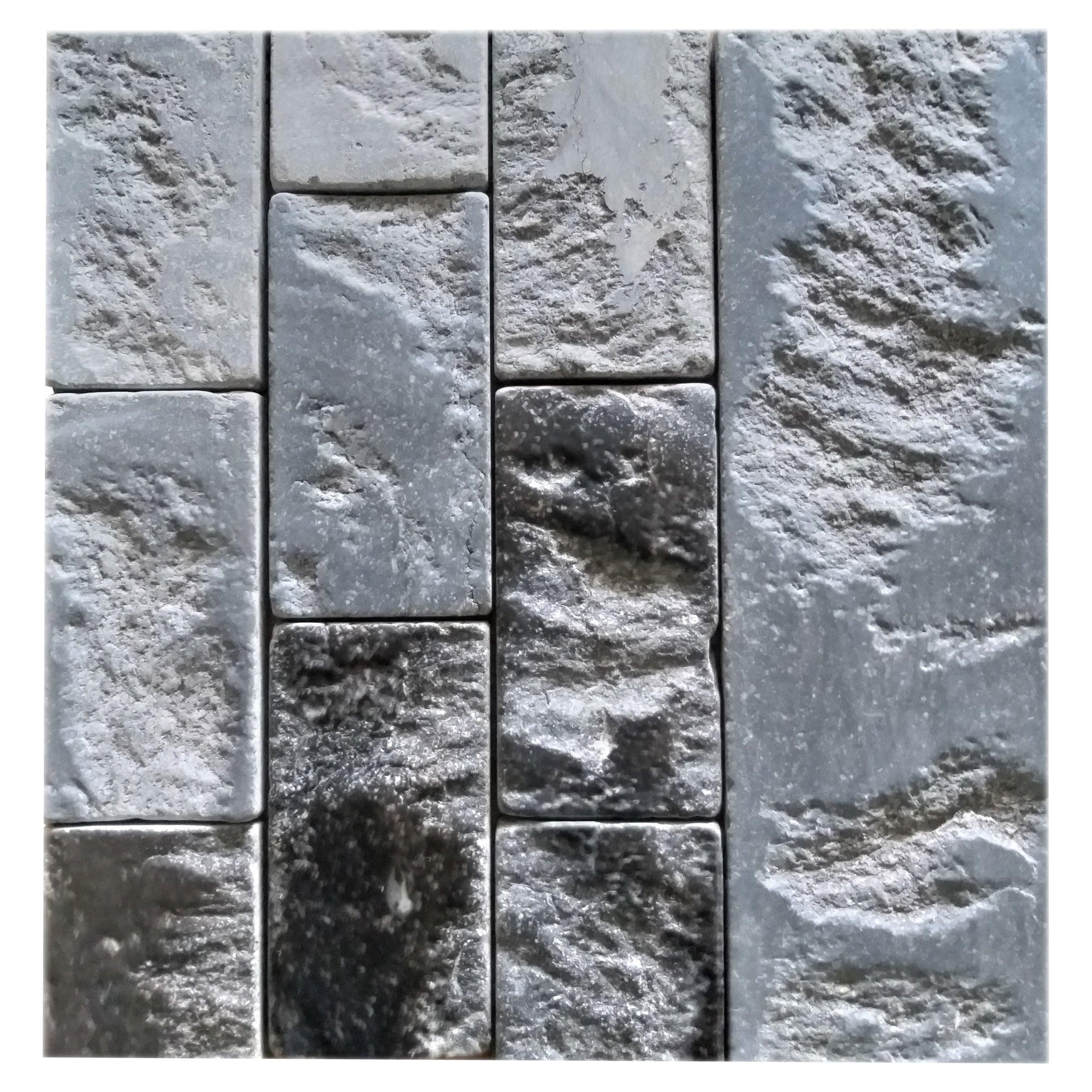 Architectural Elements Stone Tiles, Belgian Bleu, Aged, for Walls and Floors