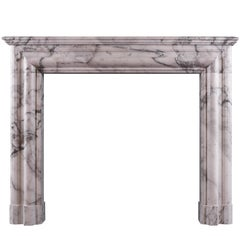 Architectural Fireplace in Italian Arabescato Marble