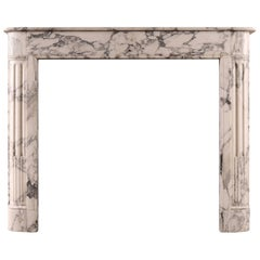 Architectural French Louis XVI Style Marble Fireplace