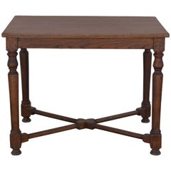 Architectural French Oak Center or Game Table