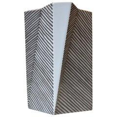 Architectural Futurist Vase by Else Kamp for Bing & Grøndahl, 1970s