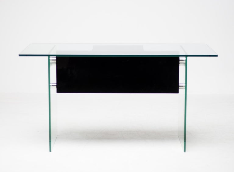 Architectural Glass Desk For Sale 2