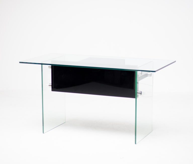 Late 20th Century Architectural Glass Desk For Sale