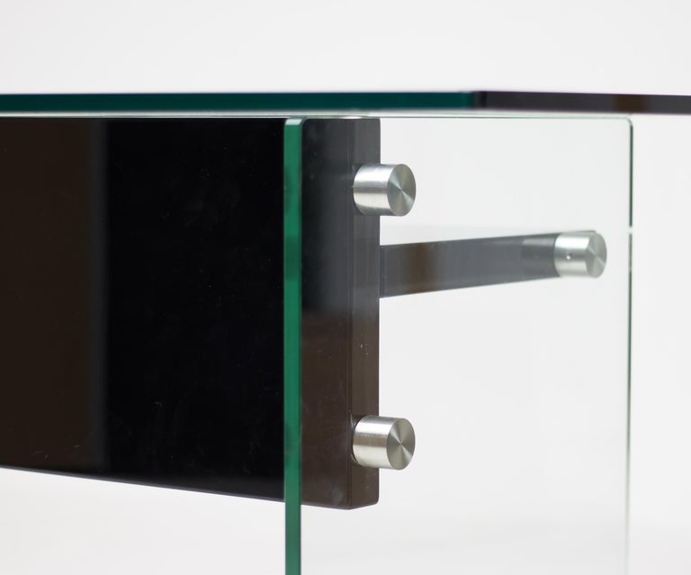 Architectural Glass Desk For Sale 1