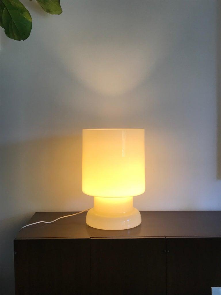Modern Vetri Murano Architectural Glass Lamp For Sale