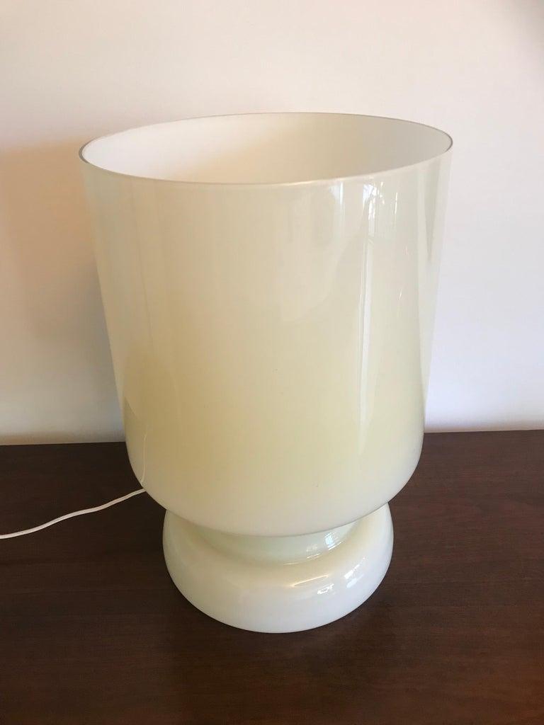 Vetri Murano Architectural Glass Lamp In Good Condition For Sale In Los Angeles, CA