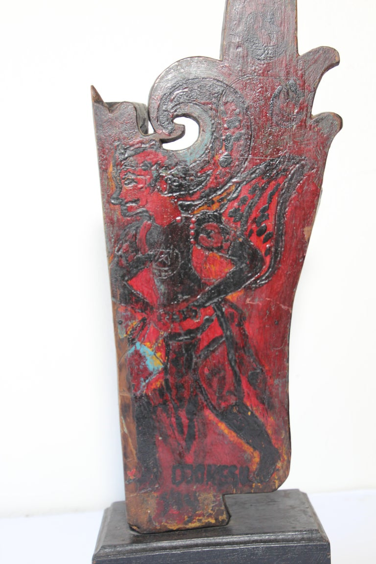 Architectural Hand Carved Wood Temple Fragment For Sale 4