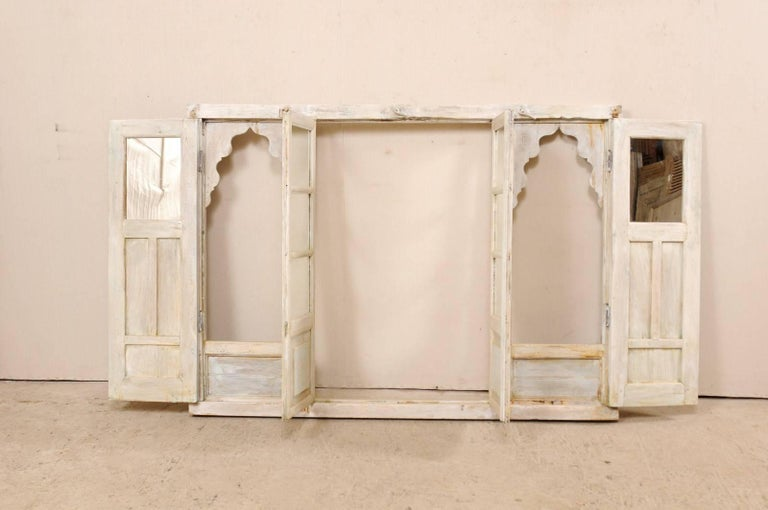 Architectural Indian Wall Decoration Adorned with Scalloped Arches and Mirrors For Sale 3