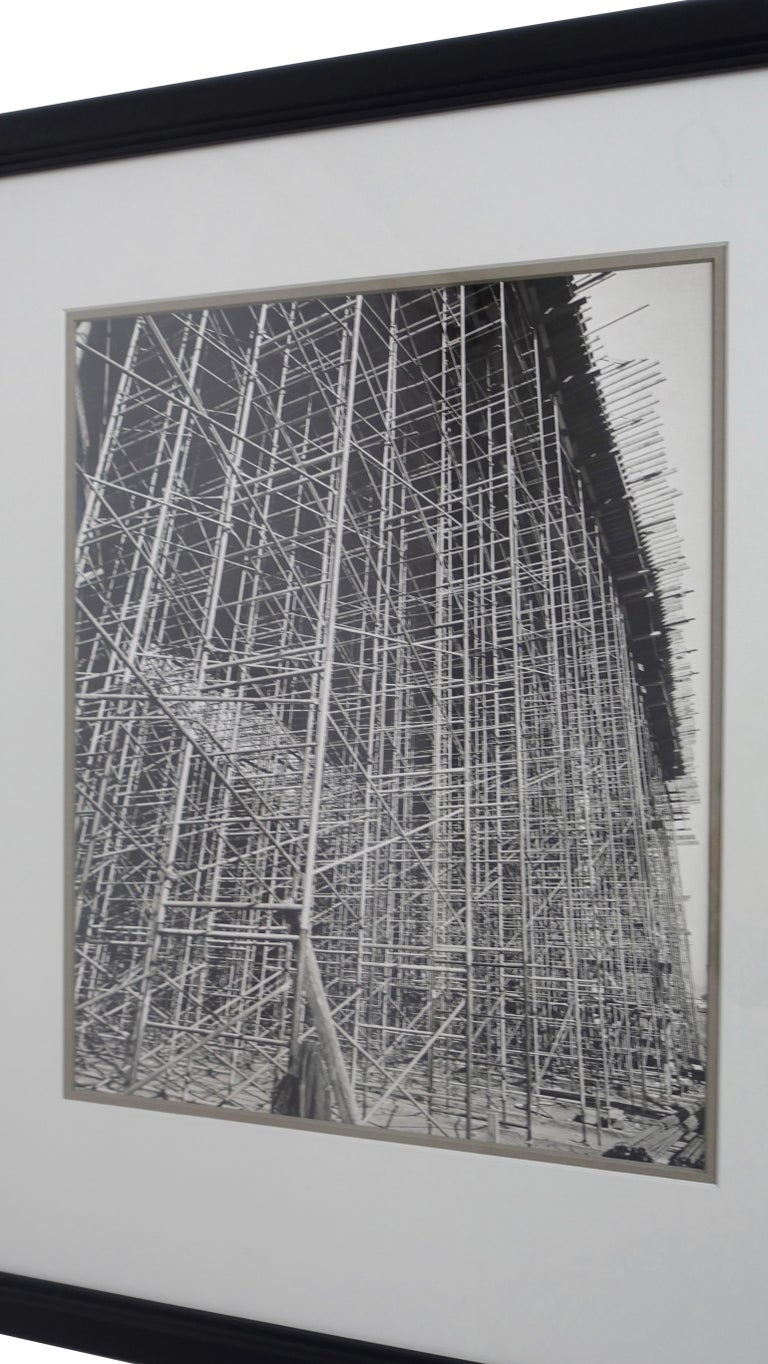Mid-Century Modern Architectural Industrial Black and White Photograph For Sale